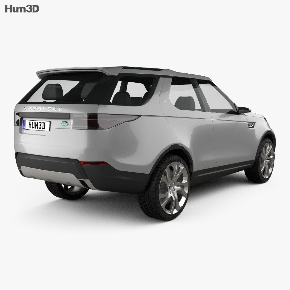 Land Rover Discovery Vision 2014 3d model back view