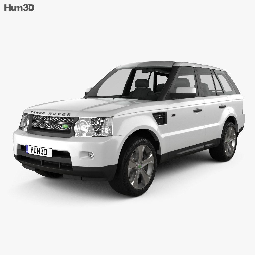 Land Rover Sport Used: Land Rover Range Rover Sport 2011 3D Model