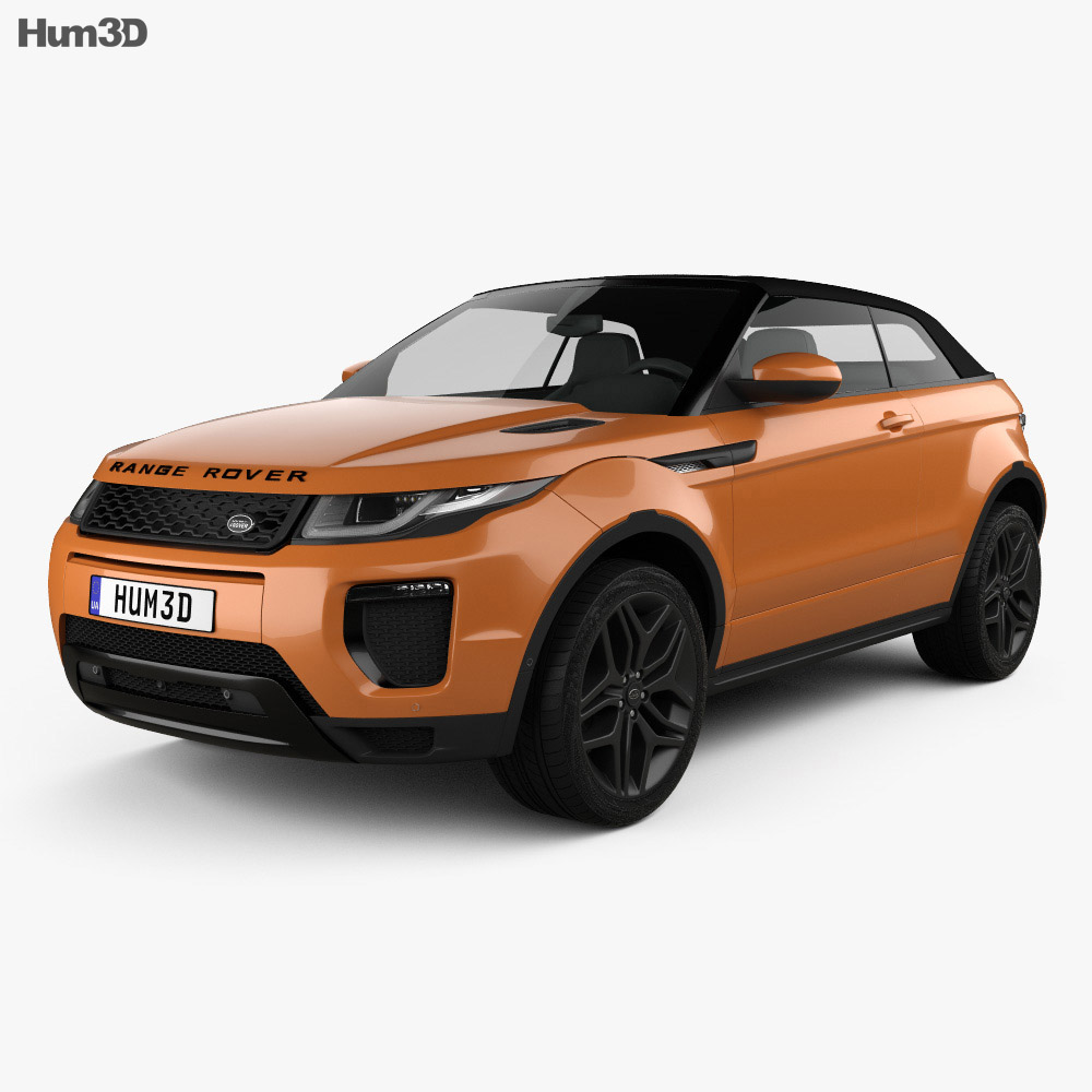 Land Rover Range Rover Evoque Convertible 2016 3D Model