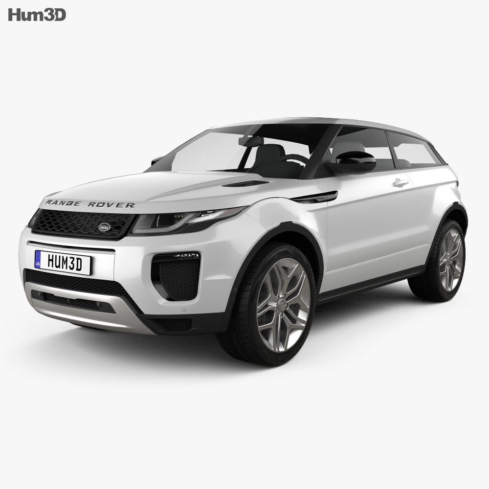 Land Rover Range Rover Evoque 3-door 2015 3d model