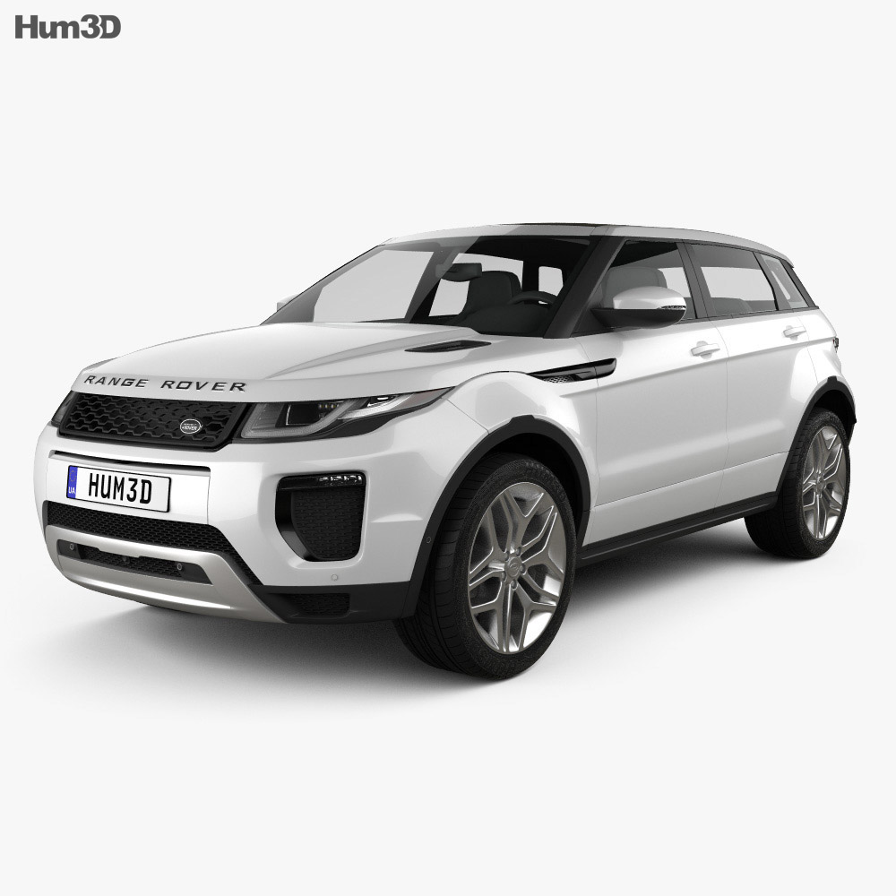 land rover range rover evoque 5 door 2015 3d model humster3d. Black Bedroom Furniture Sets. Home Design Ideas
