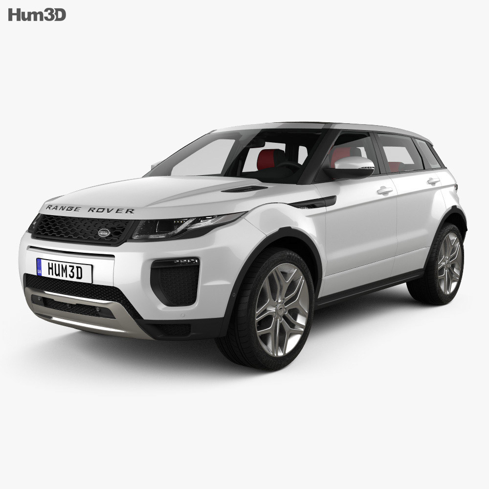 Land Rover Range Rover Evoque HSE 5-door with HQ interior 2015 3d model