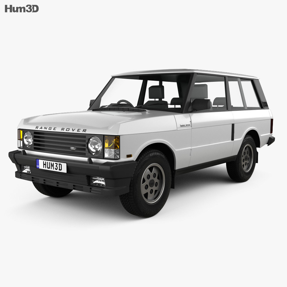 land rover range rover 3 door 1986 3d model hum3d. Black Bedroom Furniture Sets. Home Design Ideas