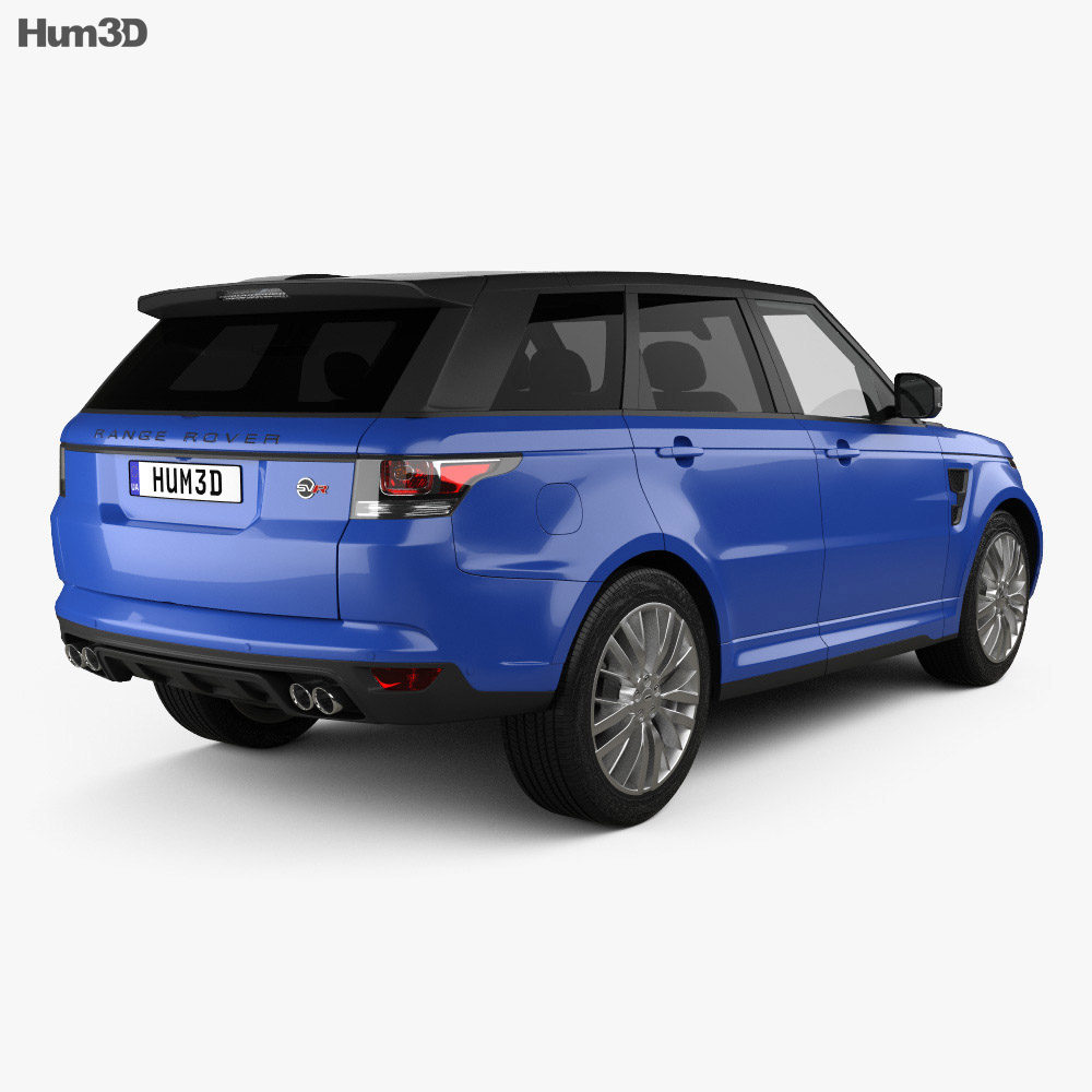 land rover range rover sport svr 2015 3d model humster3d. Black Bedroom Furniture Sets. Home Design Ideas