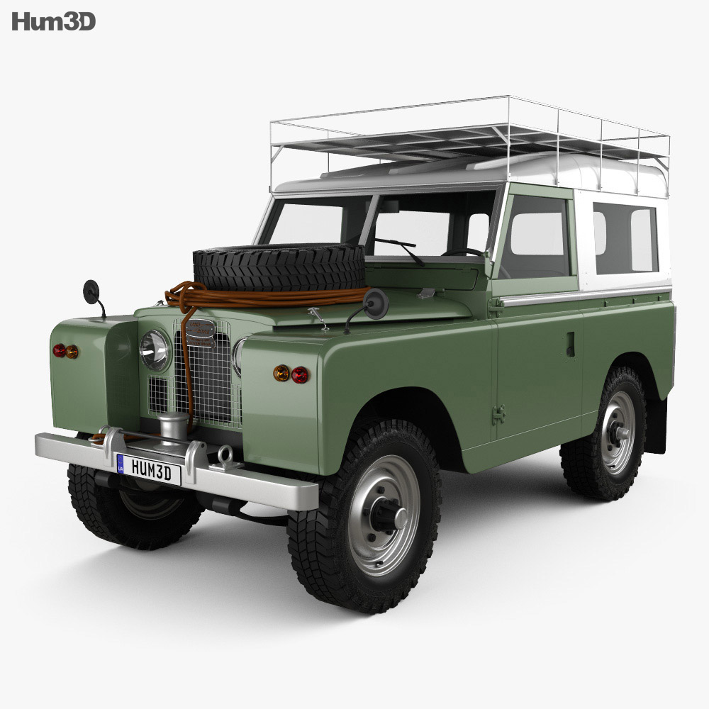 Land Rover Series IIA 88 Pickup 1968 3D model - Hum3D