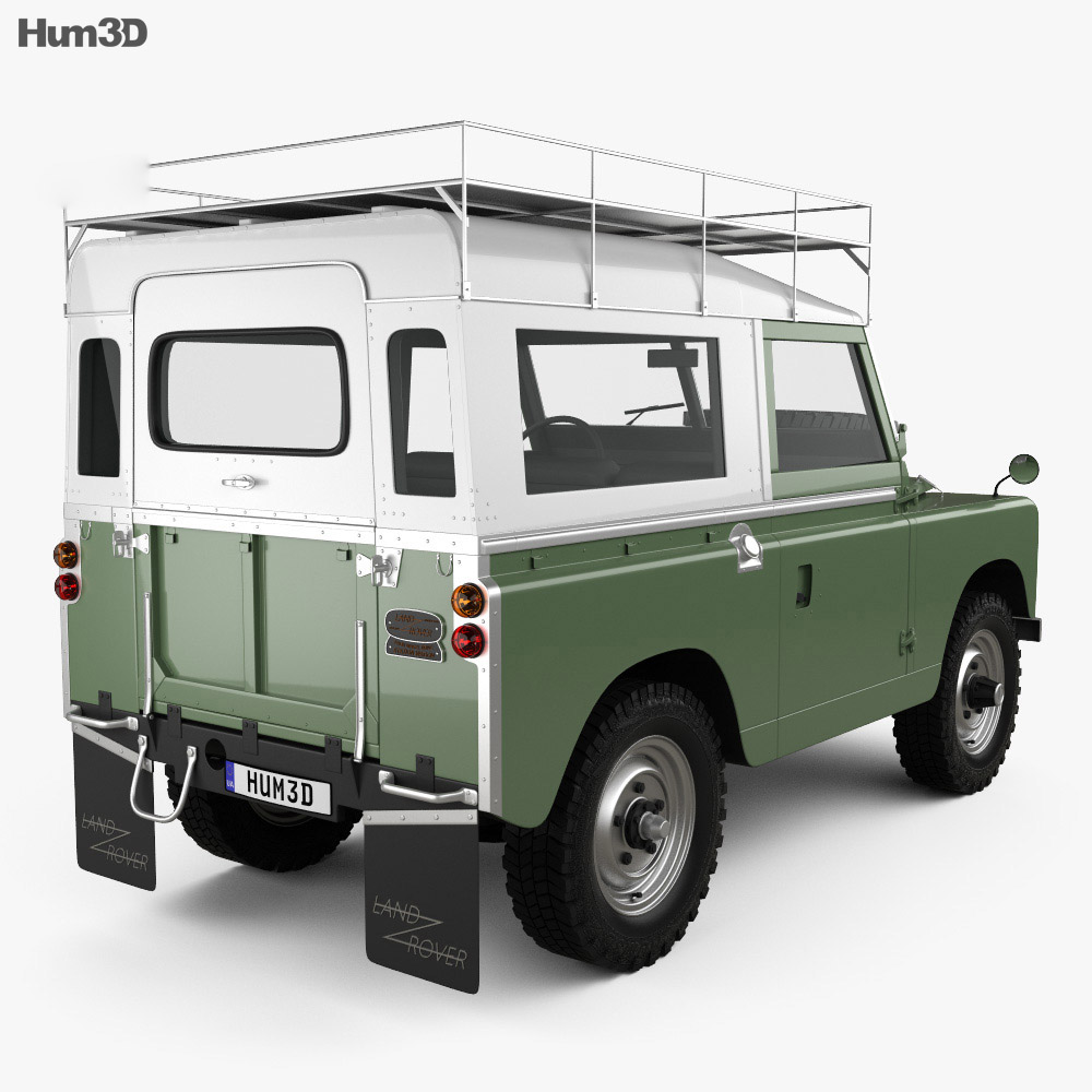 land rover series iia 88 pickup 1968 3d model humster3d. Black Bedroom Furniture Sets. Home Design Ideas