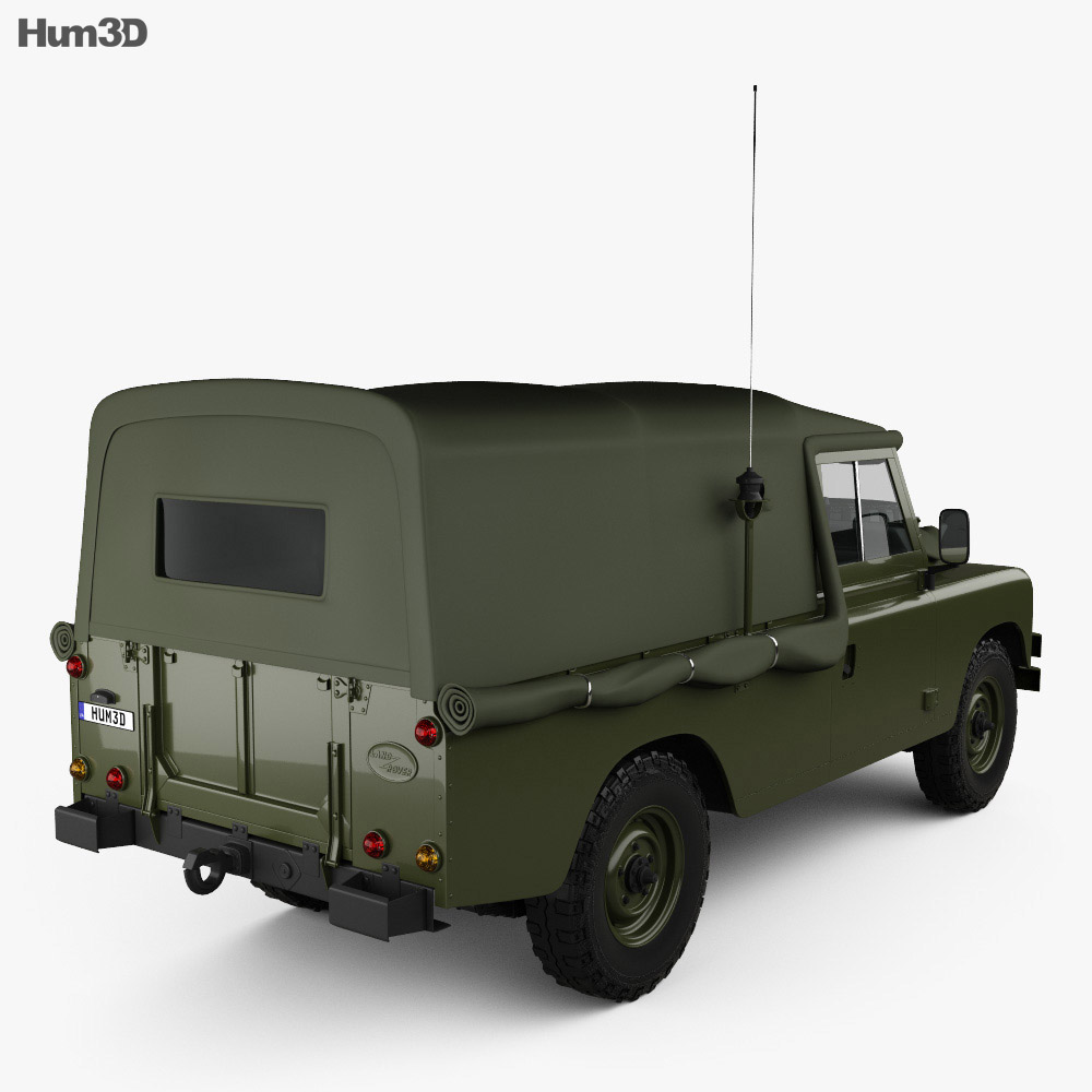 Land Rover Series III LWB Military FFR 1985 3d model
