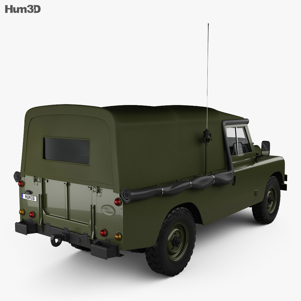 Land Rover Series III LWB Military FFR with HQ interior 1985 3d model