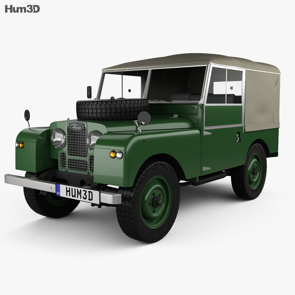 Land Rover Series I 80 Soft Top 1953 3d model