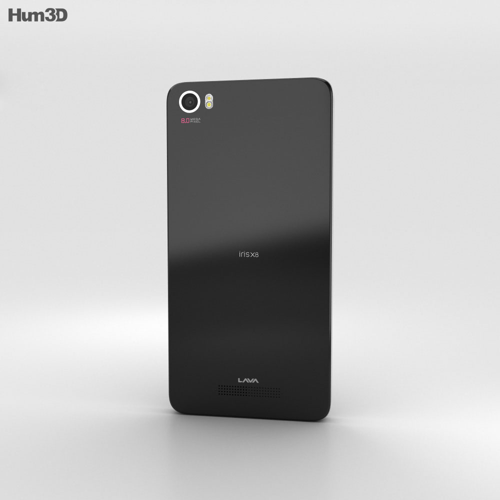 Lava Iris X8 Black 3d model