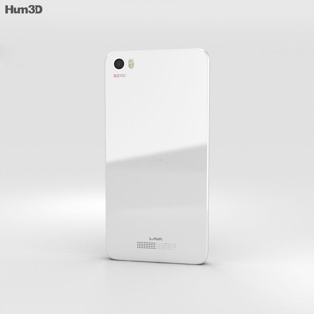 Lava Iris X8 White 3d model