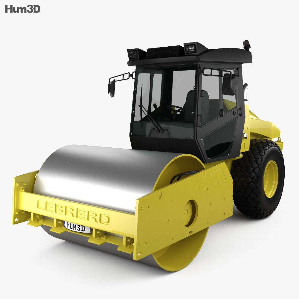 3D model of Lebrero X3 Drum Roller 2012