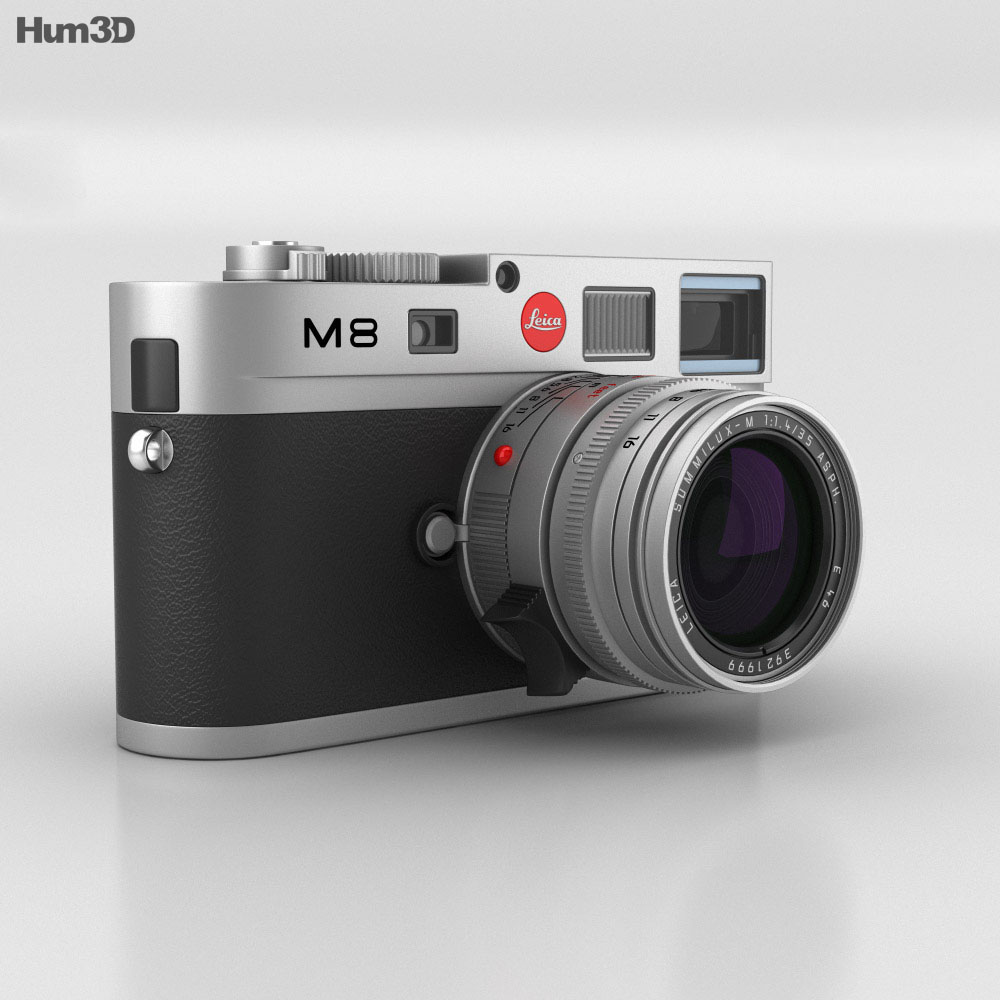 Leica M8 Silver 3d Model Humster3d