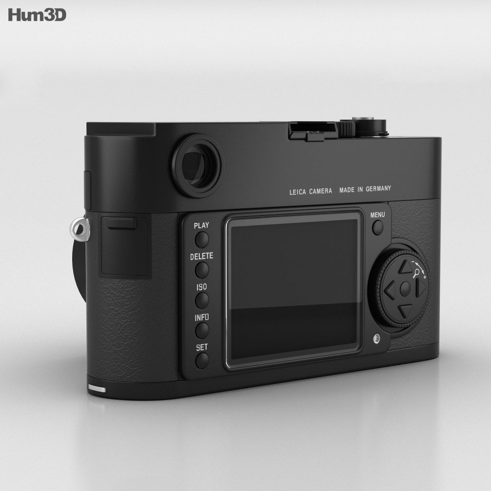 Leica M Monochrom Black 3d model