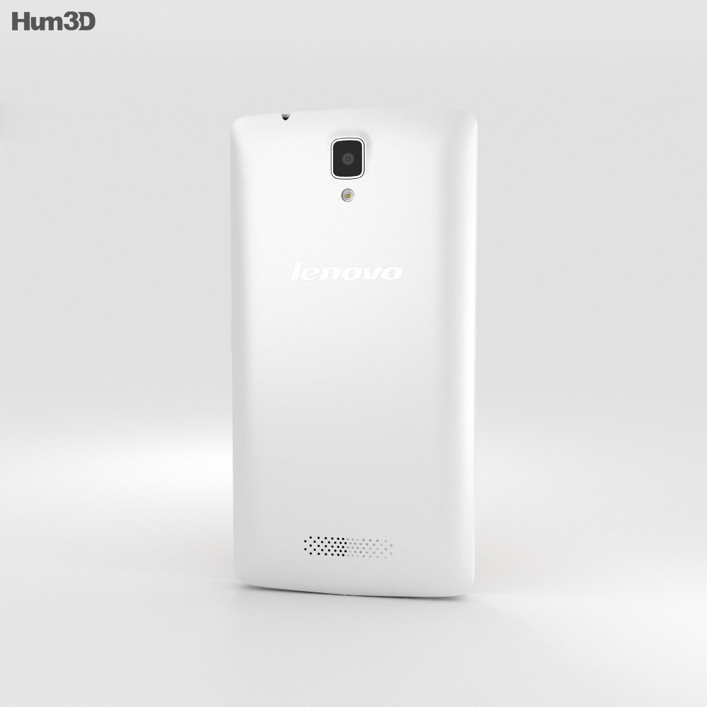 Lenovo A2010 Pearl White 3d model
