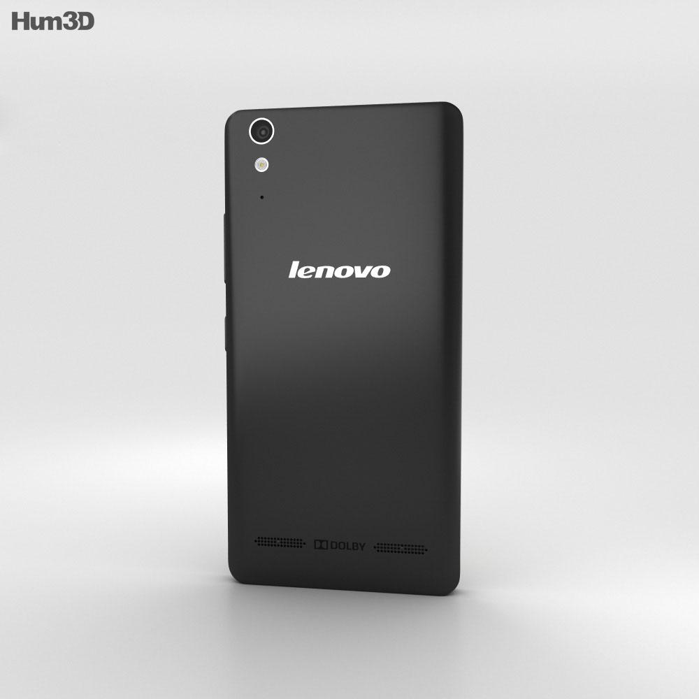 Lenovo A6000 Black 3d model