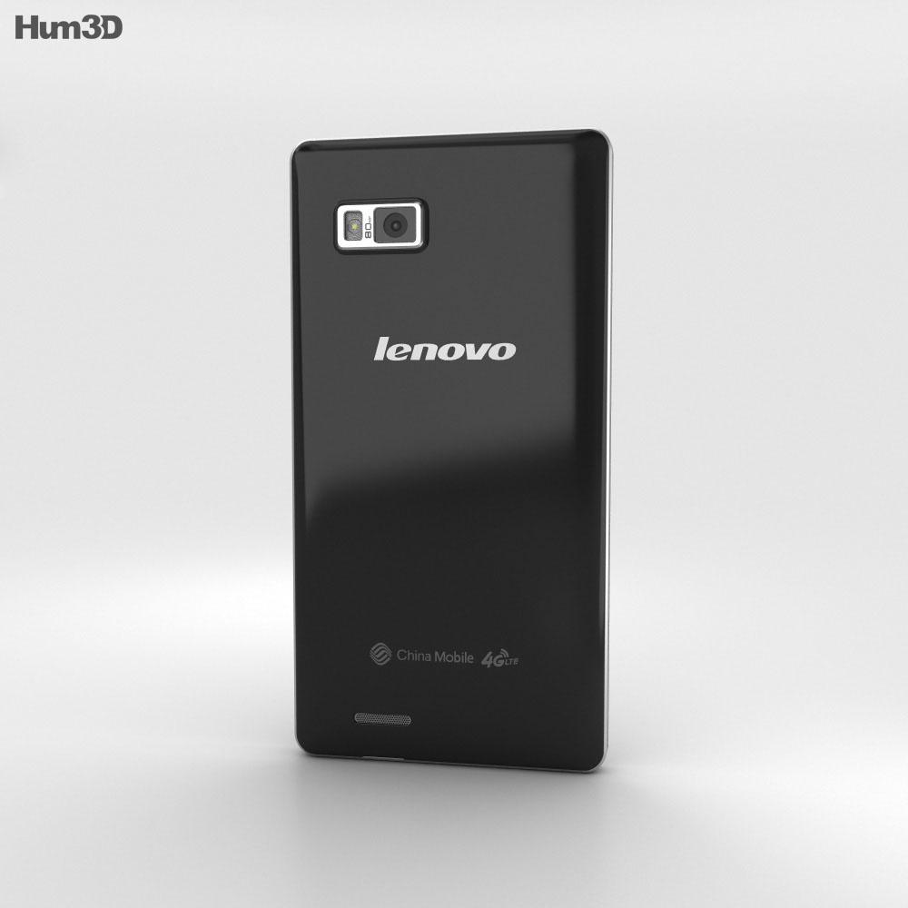 Lenovo A788T Black 3d model