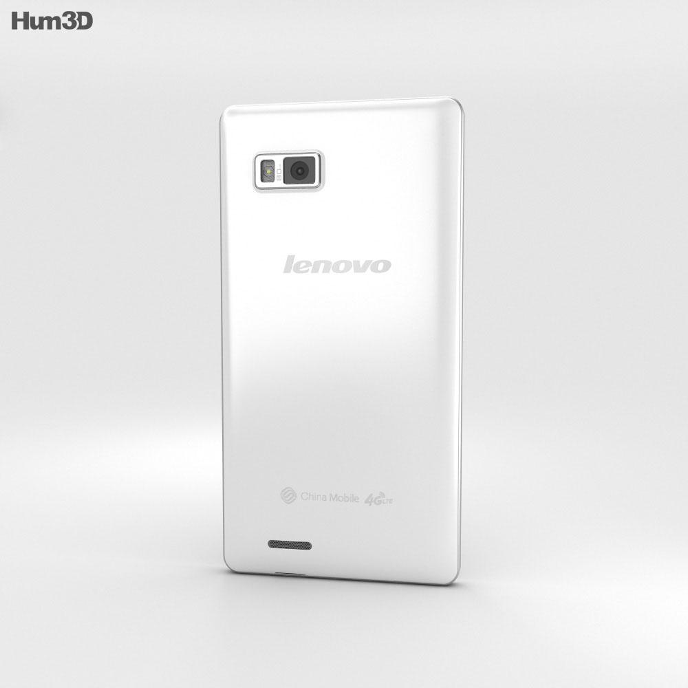Lenovo A788T White 3d model