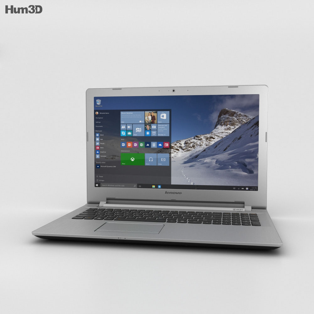 Lenovo IdeaPad 500 Black 3d model