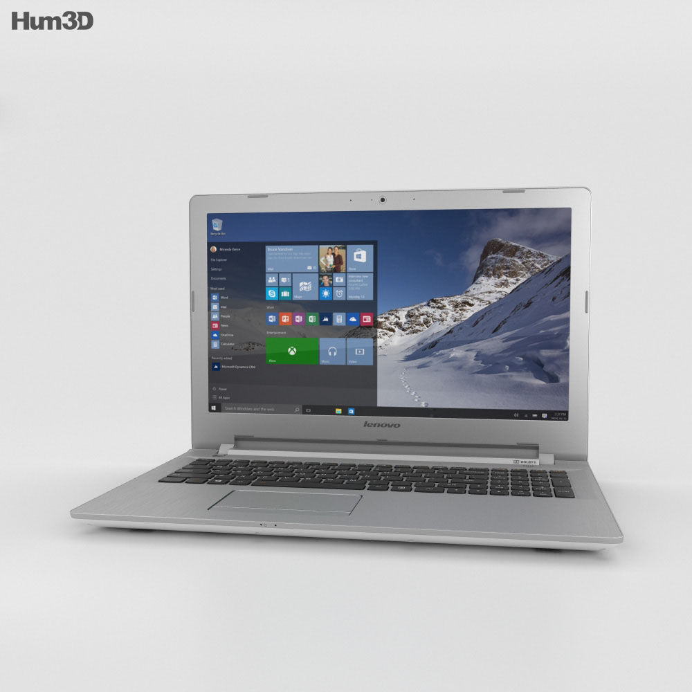 Lenovo IdeaPad 500 White 3d model