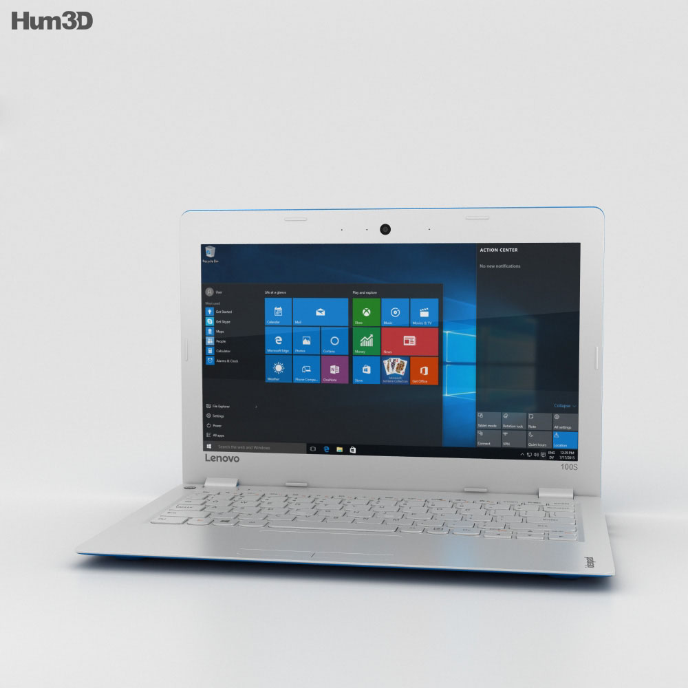 Lenovo Ideapad 100S Blue 3d model