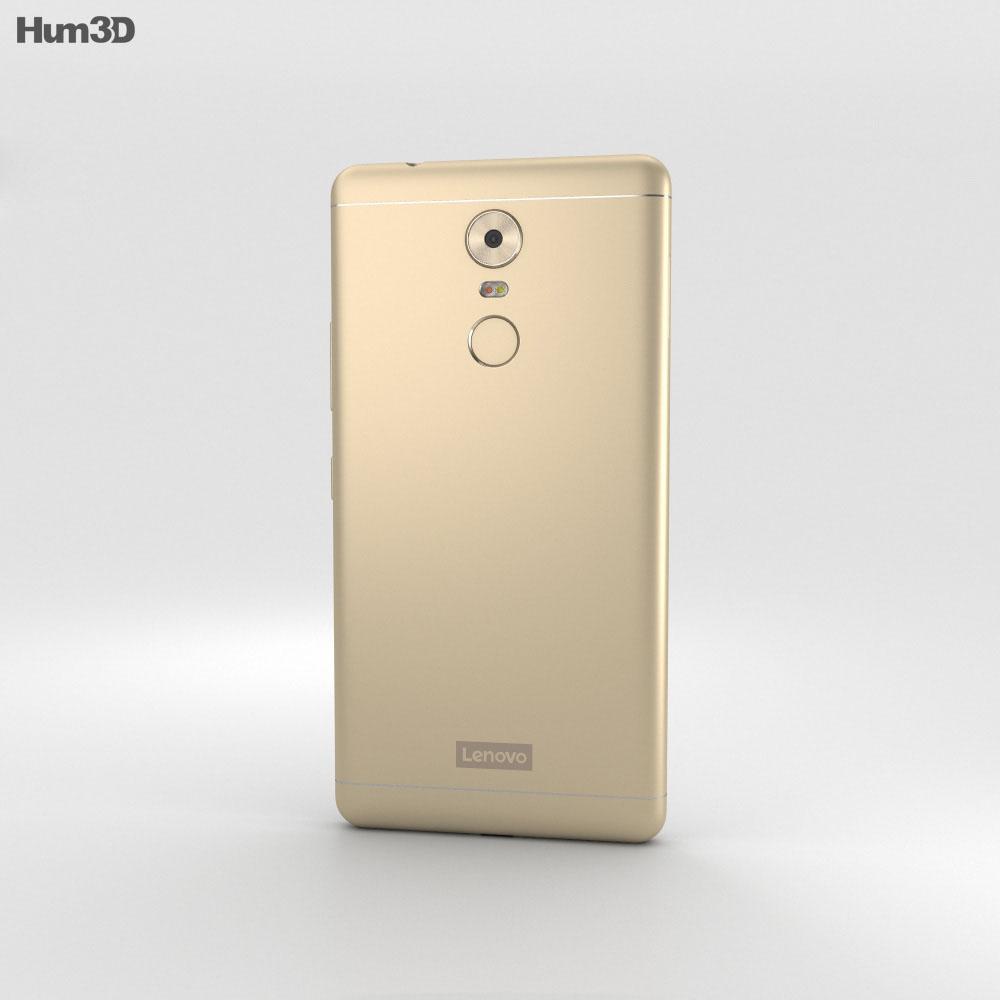 Lenovo K6 Note Gold 3d model