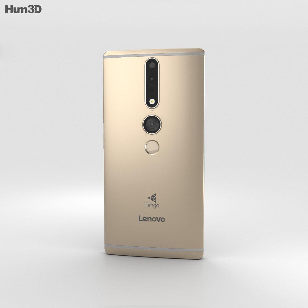 Lenovo Phab 2 Pro Champagne Gold 3d model
