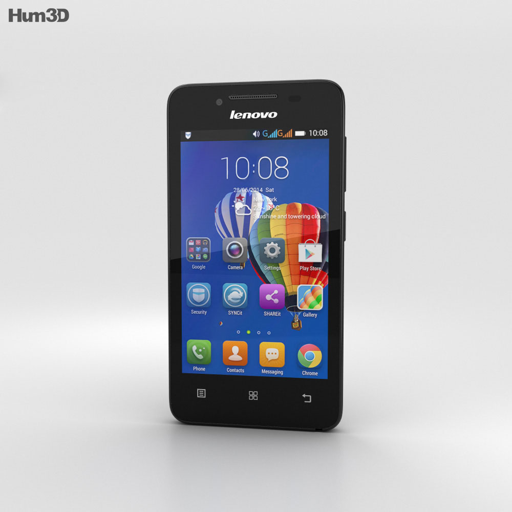 Lenovo RocStar A319 Black 3d model