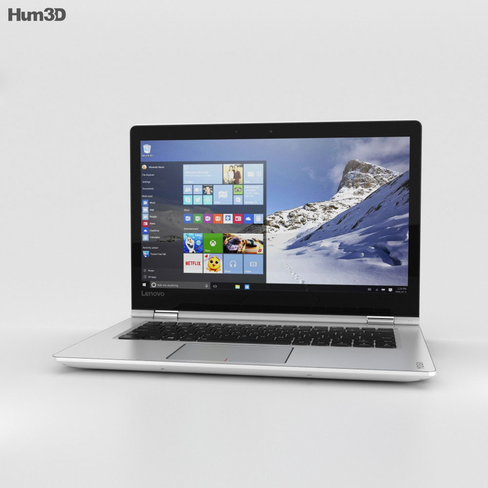 Lenovo Yoga 510 White 3d model