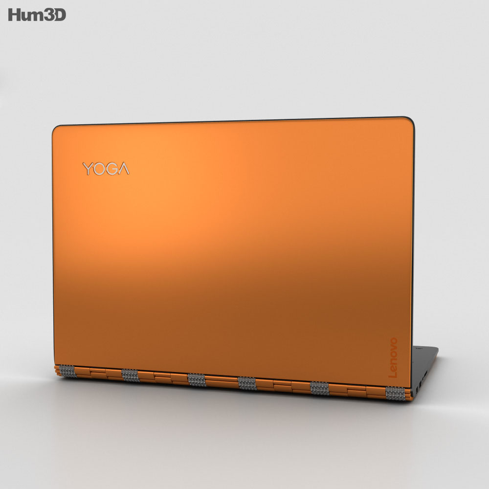 Lenovo Yoga 900 Orange 3d model