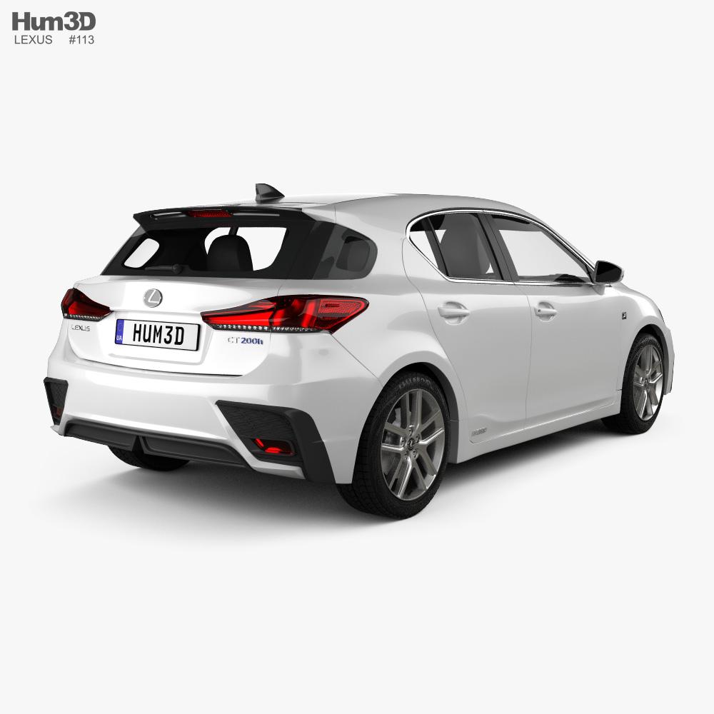 Lexus CT F-sport 2017 3d model