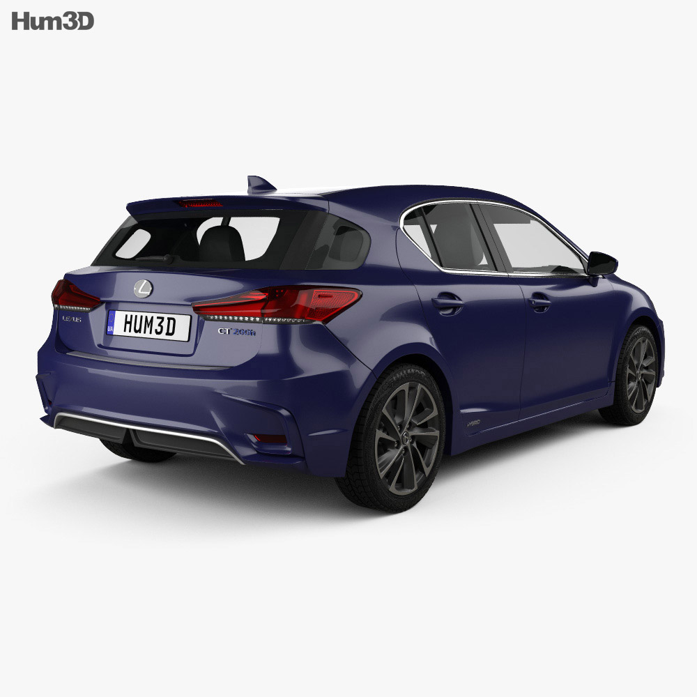 Lexus CT Hybrid Prestige 2018 3d model