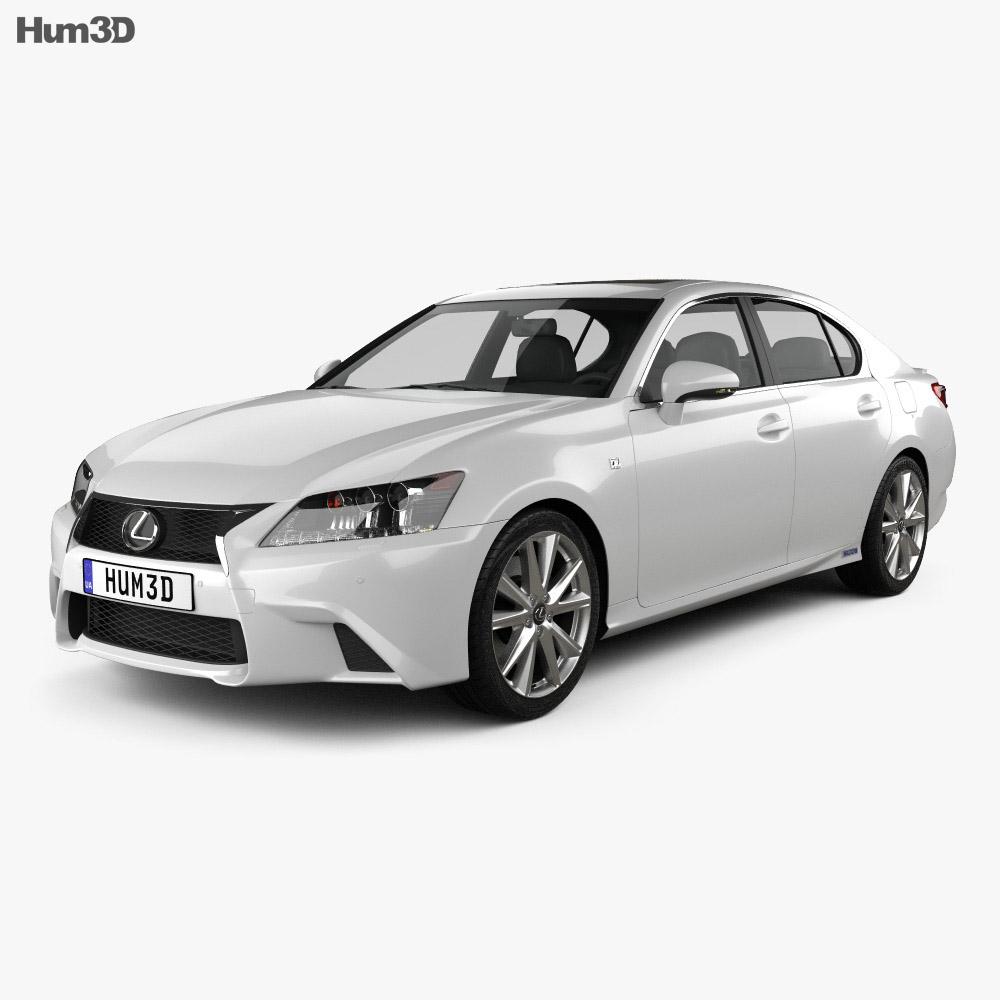Lexus GS F Sport hybrid (L10) 2012 3d model