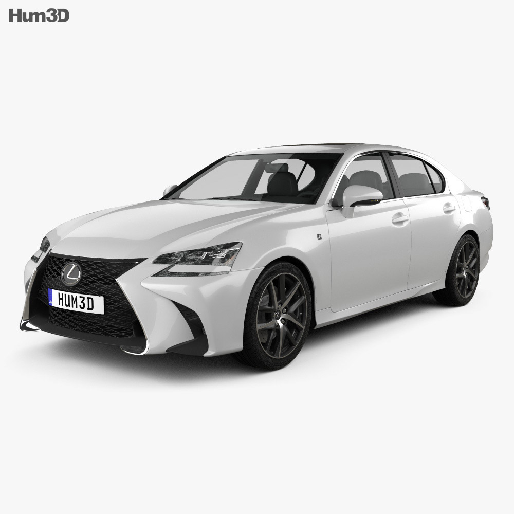 Lexus GS F Sport 2015 3d model