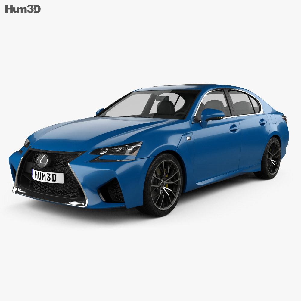 Lexus Gs F Sport 2015 3d Model