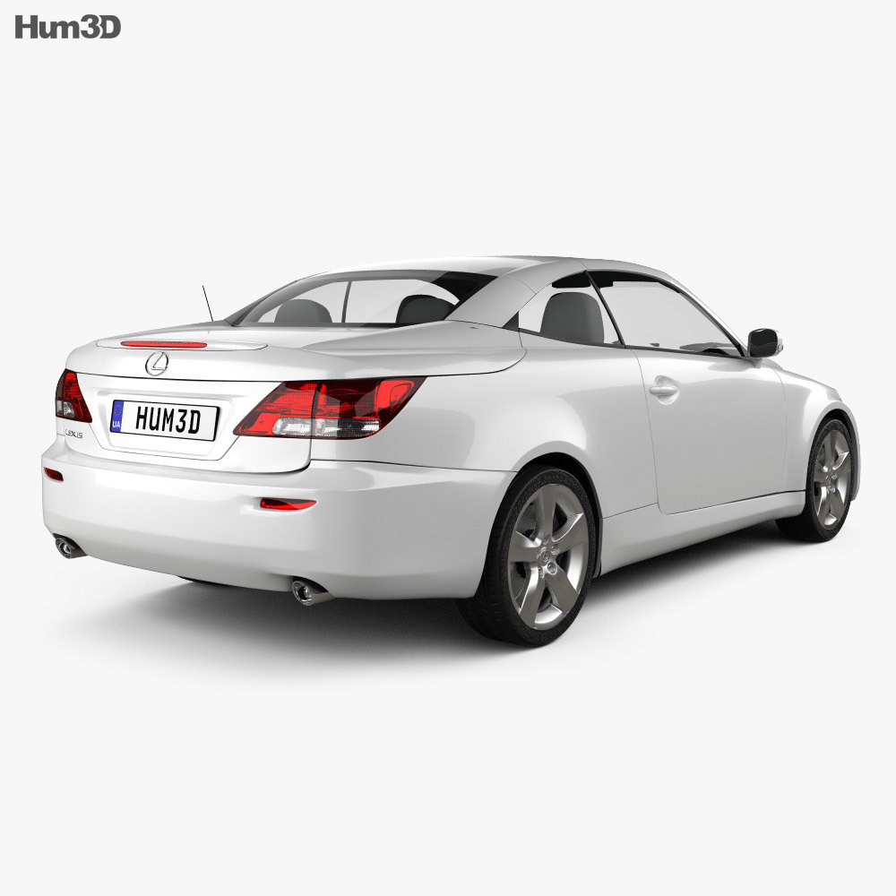 Lexus IS C (XE20) 2012 3d model