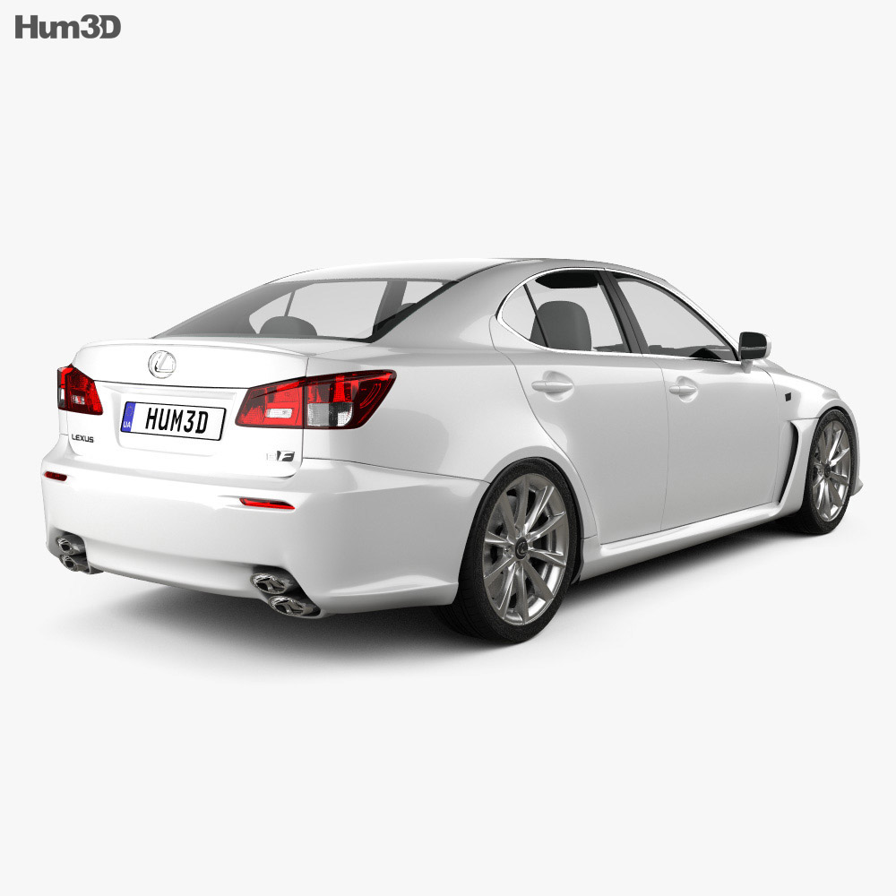 Lexus IS F (XE20) 2012 3d model