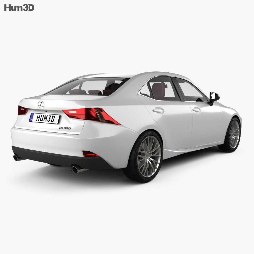 Lexus IS (XE30) with HQ interior 2013 3d model