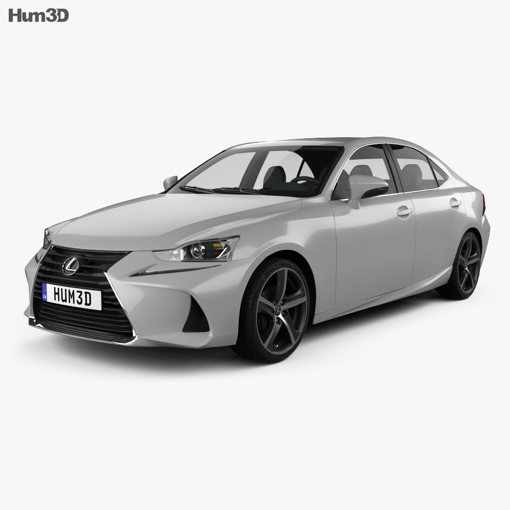Lexus IS (XE30) 350 2016 3d model