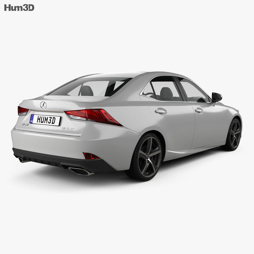 Lexus IS (XE30) 350 2016 3d model back view