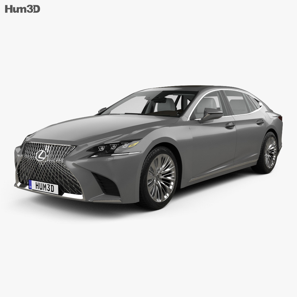 Lexus LS (XF50) with HQ interior 2017 3d model