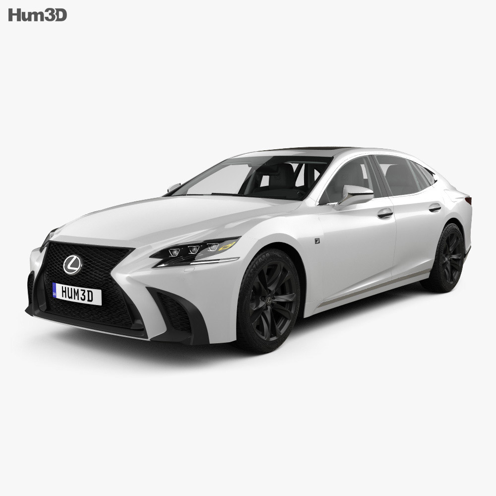 Lexus LS (XF50) F Sport with HQ interior 2018 3d model