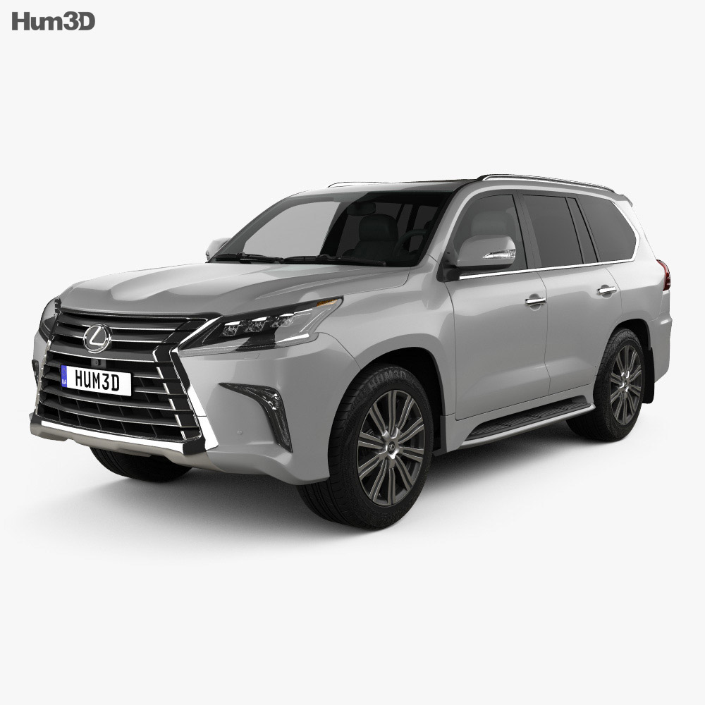 3D model of Lexus LX 2016