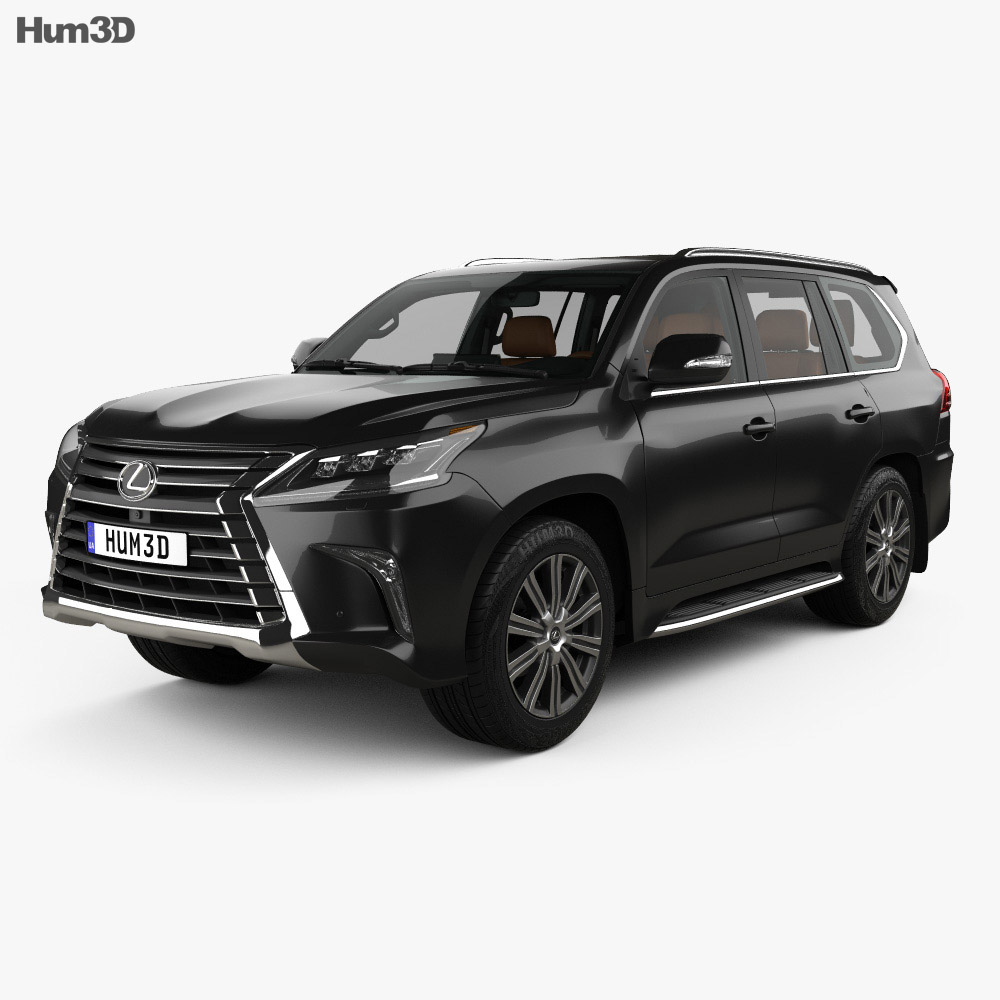 3D model of Lexus LX with HQ interior 2016