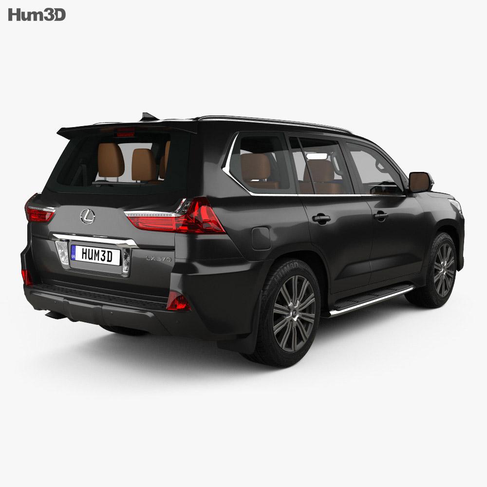 Lexus LX with HQ interior 2016 3d model