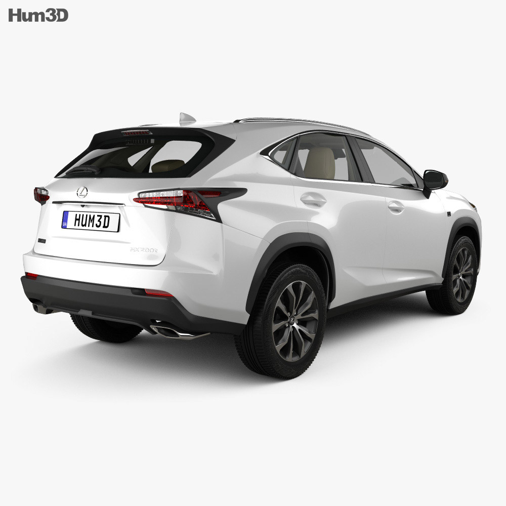 Lexus NX F-sport with HQ interior 2014 3d model