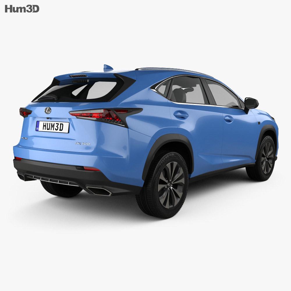 Lexus NX F sport 2017 3d model