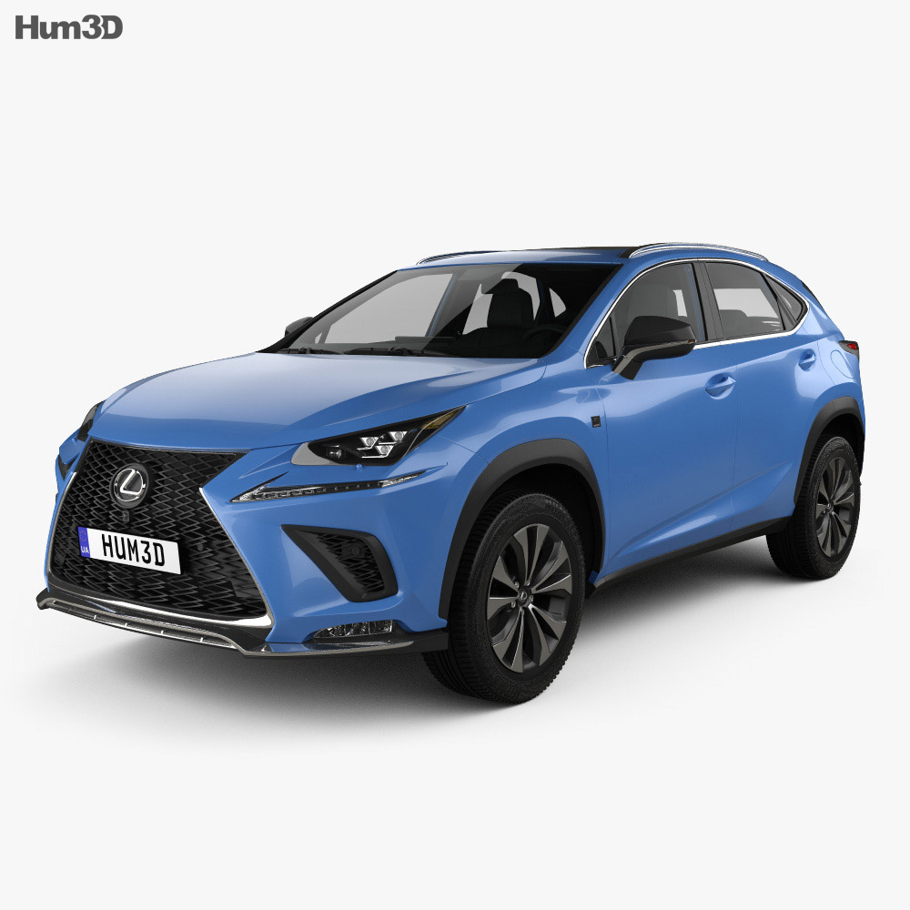 Lexus NX F sport with HQ interior 2017 3d model