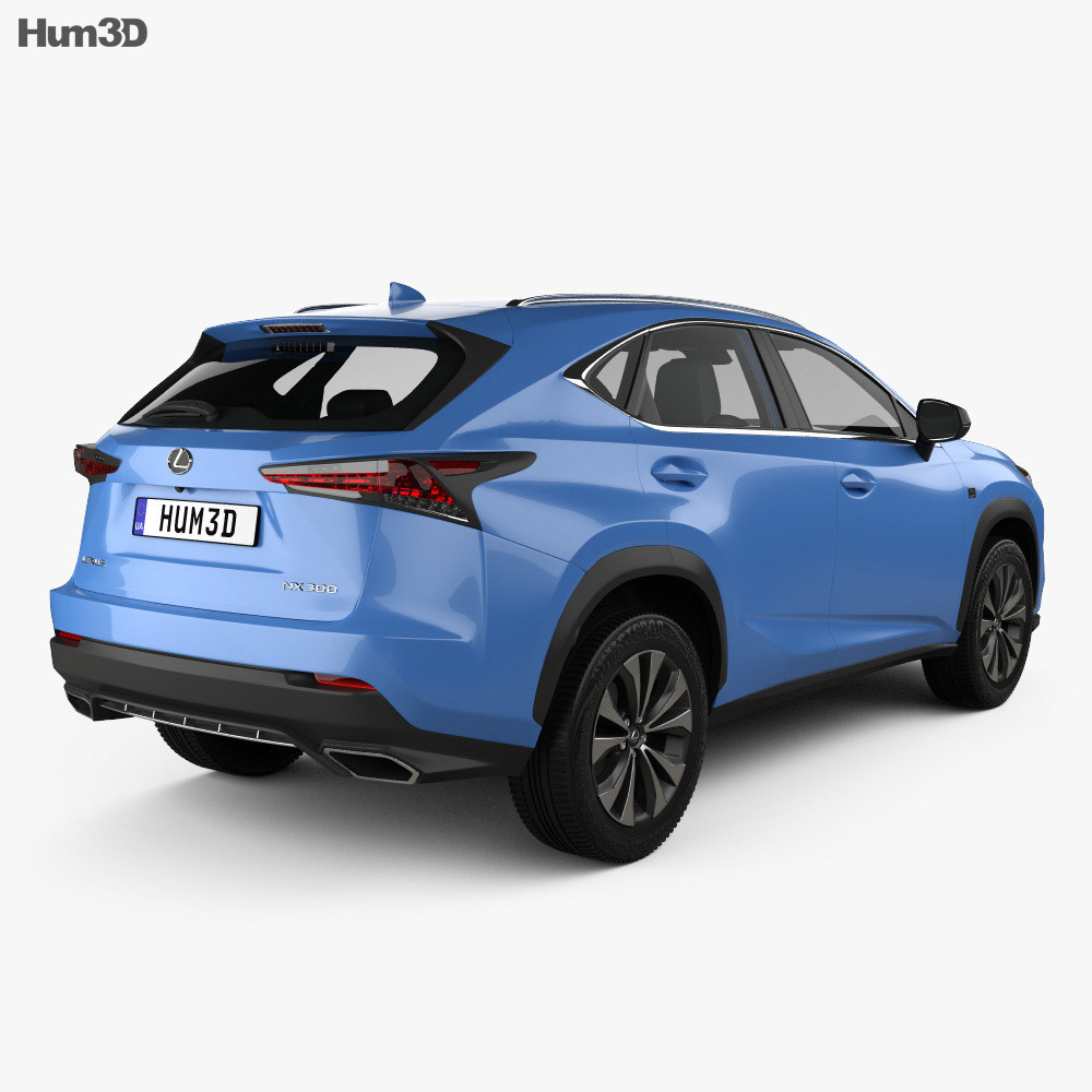 lexus nx f sport with hq interior 2017 3d model hum3d. Black Bedroom Furniture Sets. Home Design Ideas