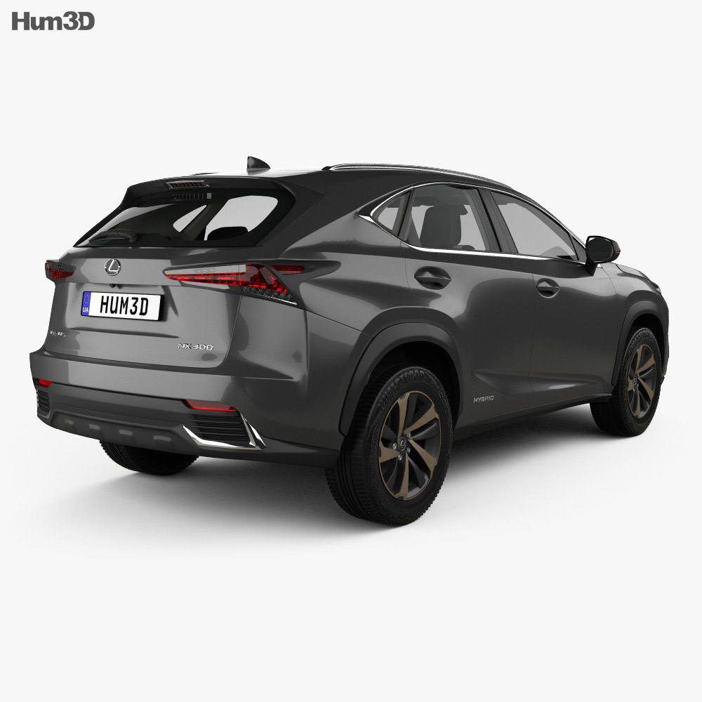 Lexus NX hybrid with HQ interior 2017 3d model